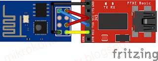 Moduł FT232 - podłączenie ESP8266