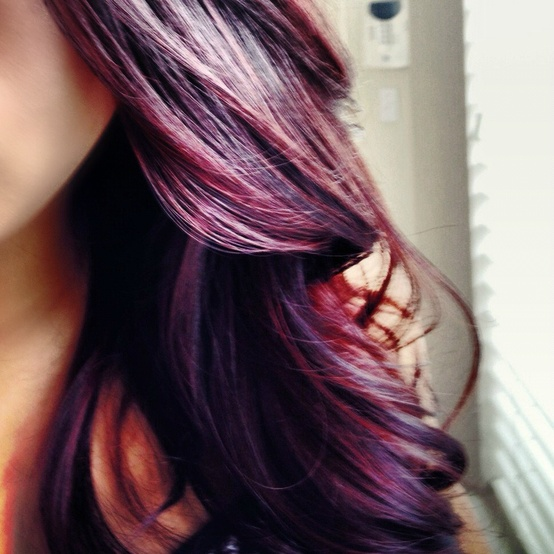 Color for Fall: burgundy plum with a dark base hair style