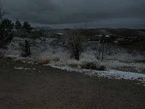 Snow at Saguaro Hill