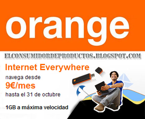 internet everywhere 19 de orange por 9 euros. Black Bedroom Furniture Sets. Home Design Ideas