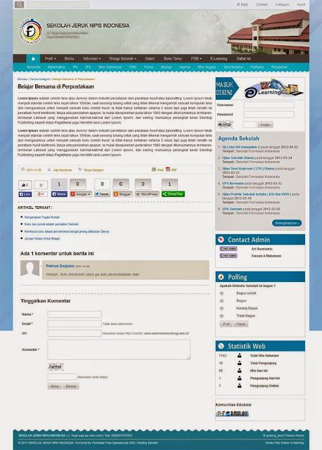 Tema cmsF surat Biru Premium
