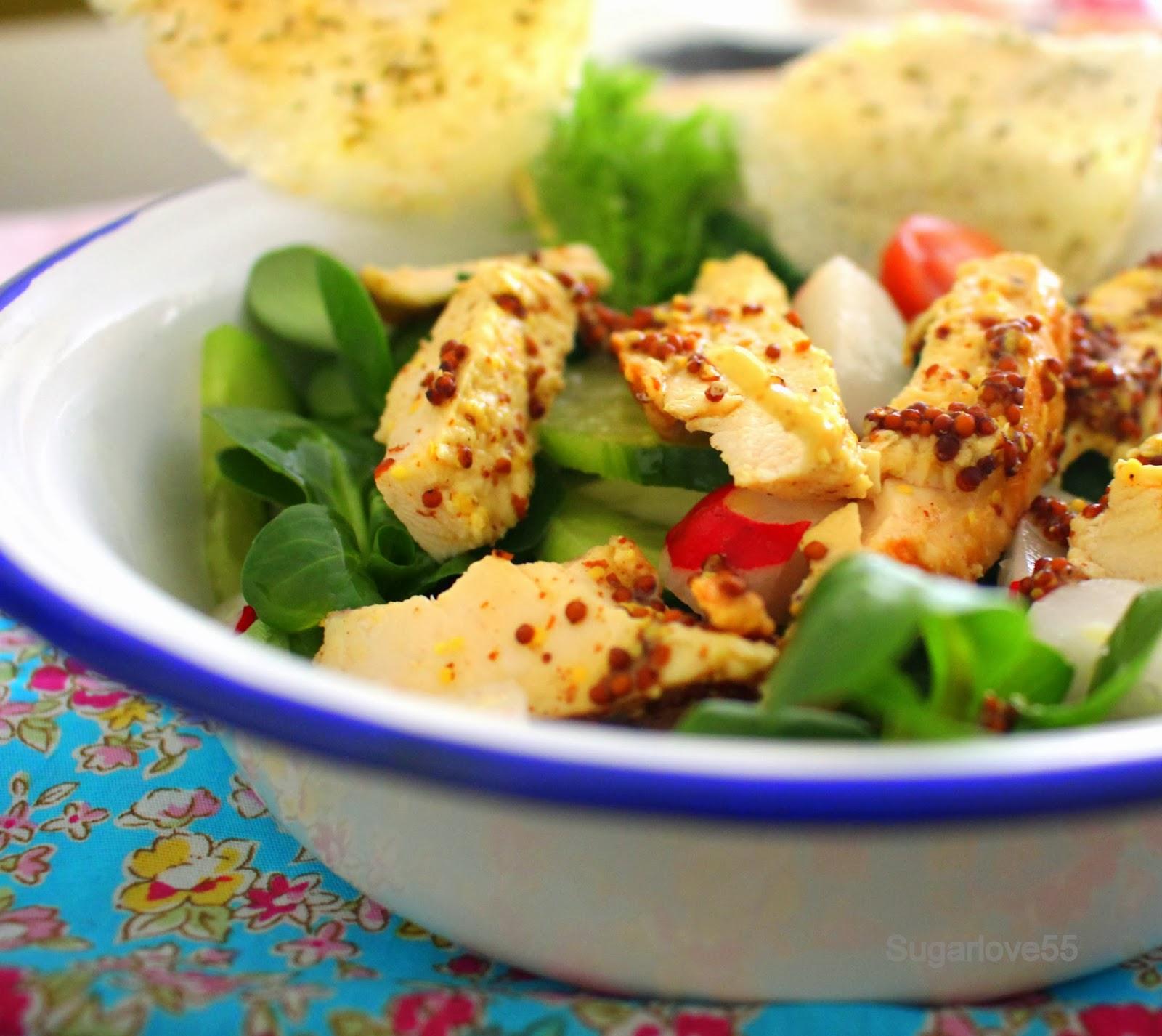 Sugarlove55 ensalada de can nigos con pollo a la mostaza - Ensaladas con canonigos ...