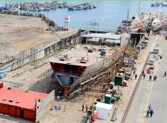 Avances en la construcción del buque escuela BAP Unión de la Marina de Guerra del Perú