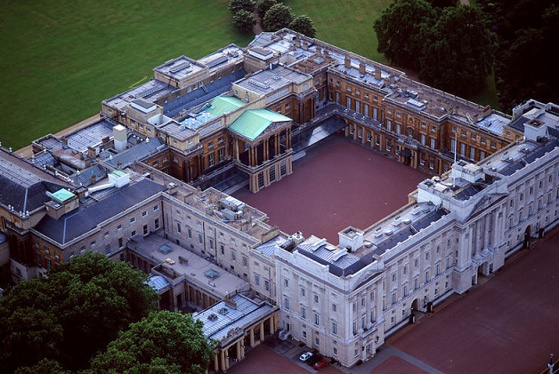 Buck Palace aerial view
