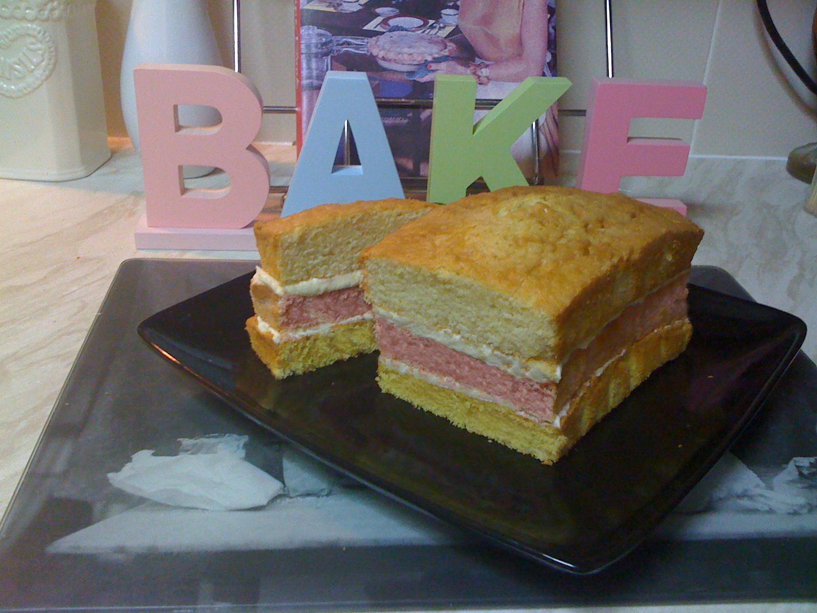 Angel cake recipe 3 colours