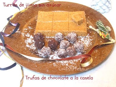 Turrn jijona y trufas sin azcar