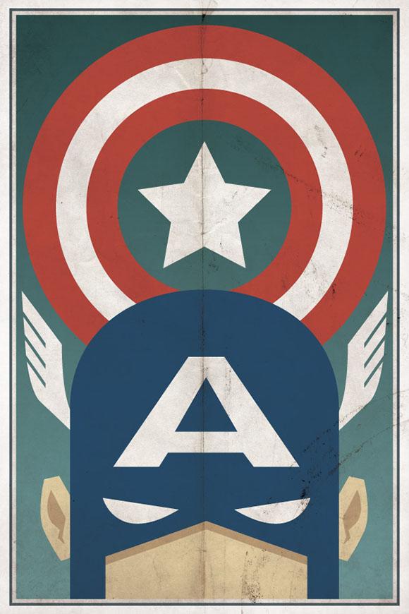 Captain America - Poster por drawsgood