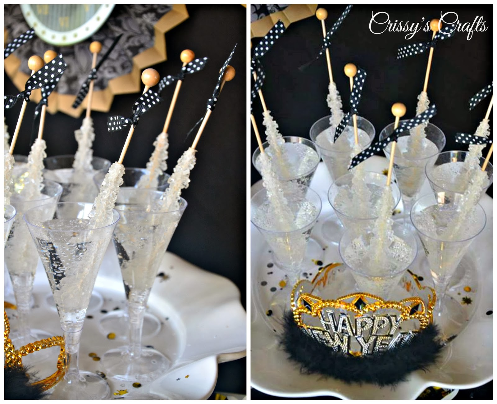 crissys crafts new years eve party ideas