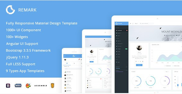 Premium Responsive Bootstrap and AugularJs Admin Template