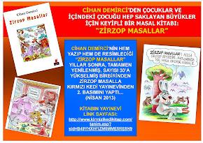 """CİHAN DEMİRCİ'NİN """"ZİRZOP MASALLAR"""" KİTABI TAMAMI RENKLİ RESİMLERLE, YEPYENİ HALİYLE 2. BASIMINDA.."""