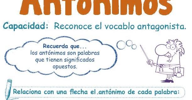 Ant nimos para ni os 2 razonamiento verbal for Definicion de cuarto