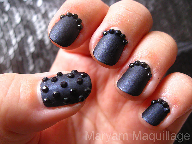 Maryam Maquillage Black Caviar Nails