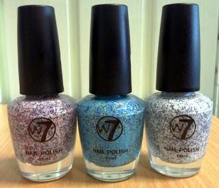 w7 sprinkles glitter nail polish