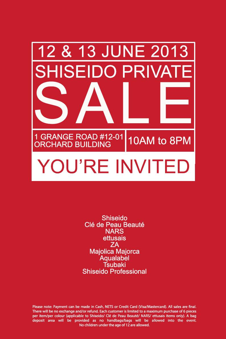 Made by beauty steal and deal shiseido private warehouse sale sephora and more - Shiseido singapore office ...