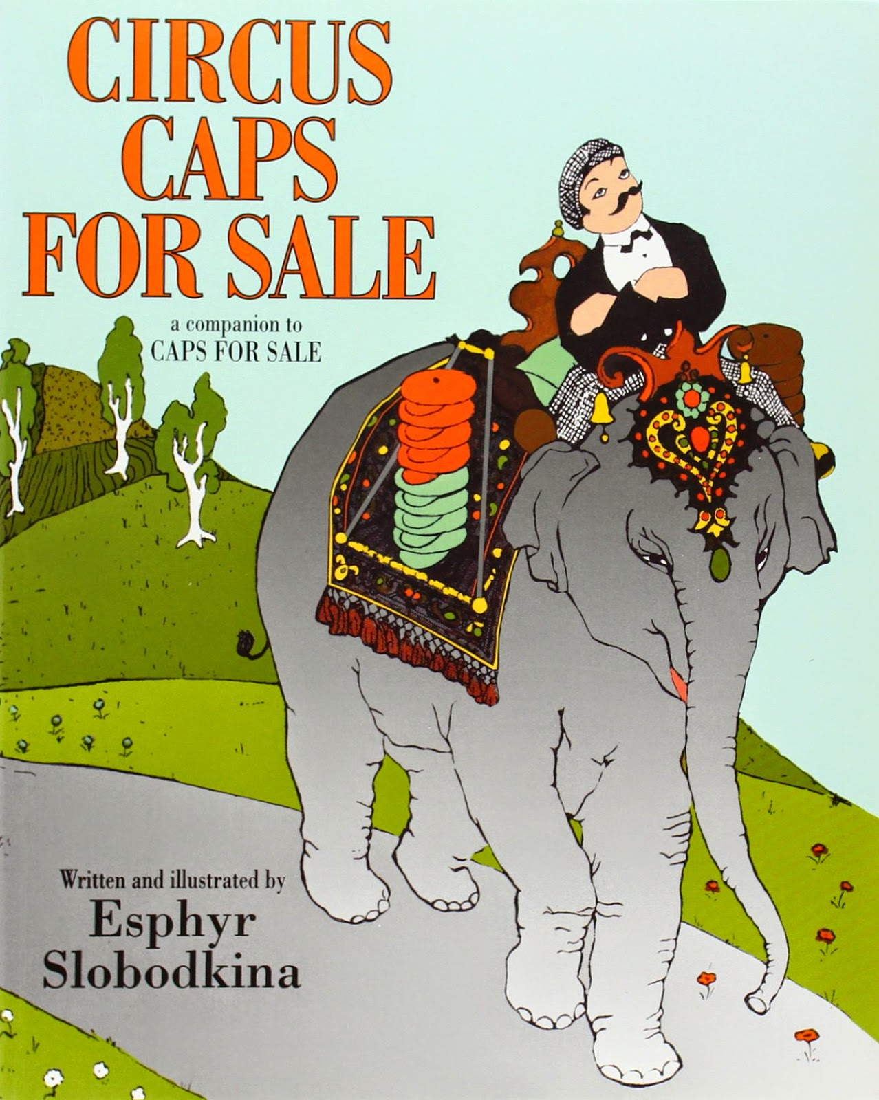 Circus Caps for Sale, part of children's book review list about the circus