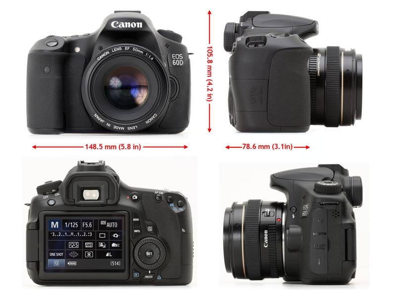 Harga dan Spesifikasi Kamera Digital SLR Canon EOS 60D