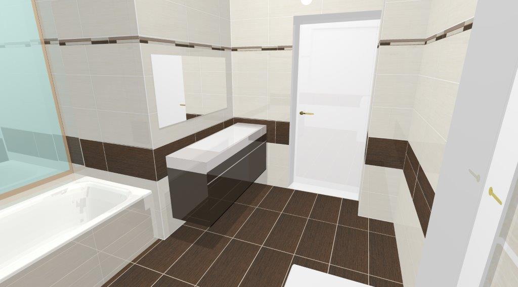 CsempeTipp!: Barna-bézs fürdőszoba, Defile csempe látványterveken és a valóságban!