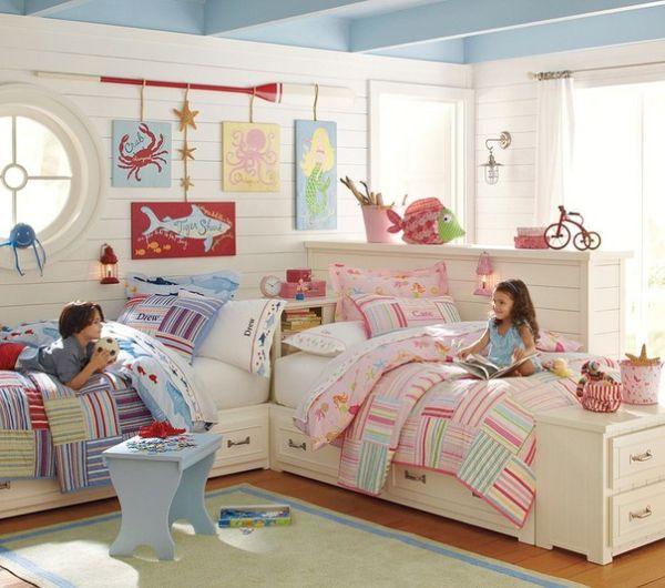 Habitaci n para ni o y ni a dormitorios con estilo for Cuartos para nina y nino