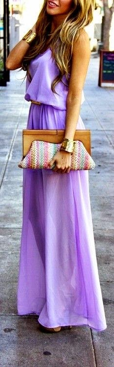 Purple Cute dressing For women + hand bag