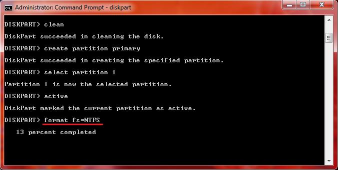 cara install ulang windows 7 dengan flashdisk cmd
