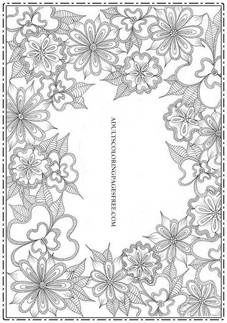 Flower Border Frames Coloring Pages