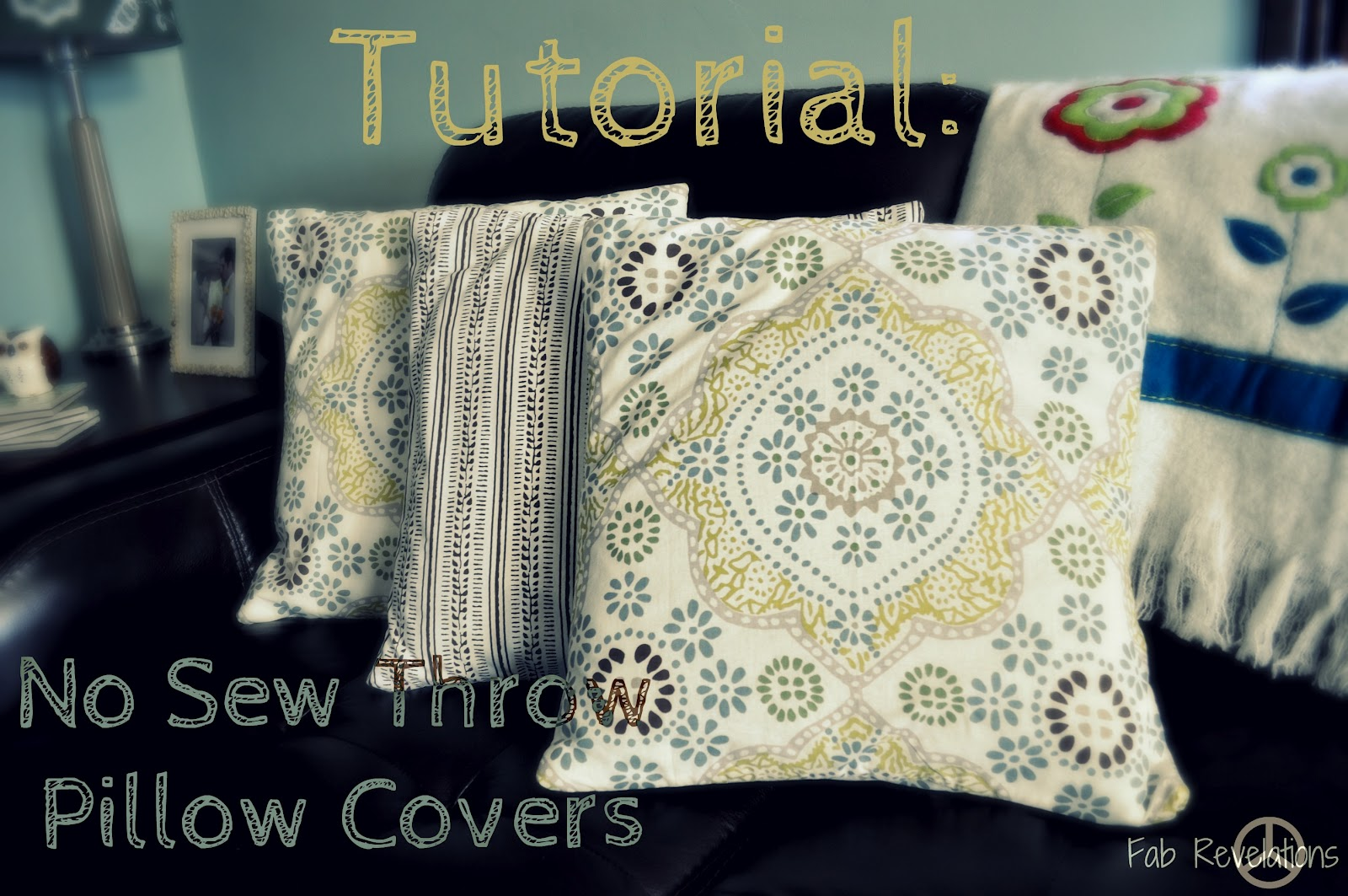 How To Make A Round Throw Pillow Cover : terry's go round: No Sew Throw Pillow Covers Tutorial