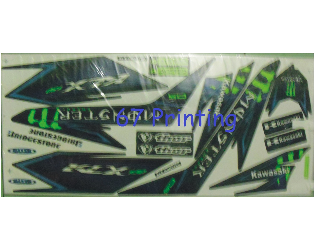 JUAL STRIPING MOTOR KAWASAKI KLX 150 MOTIF MONSTER ENERGY