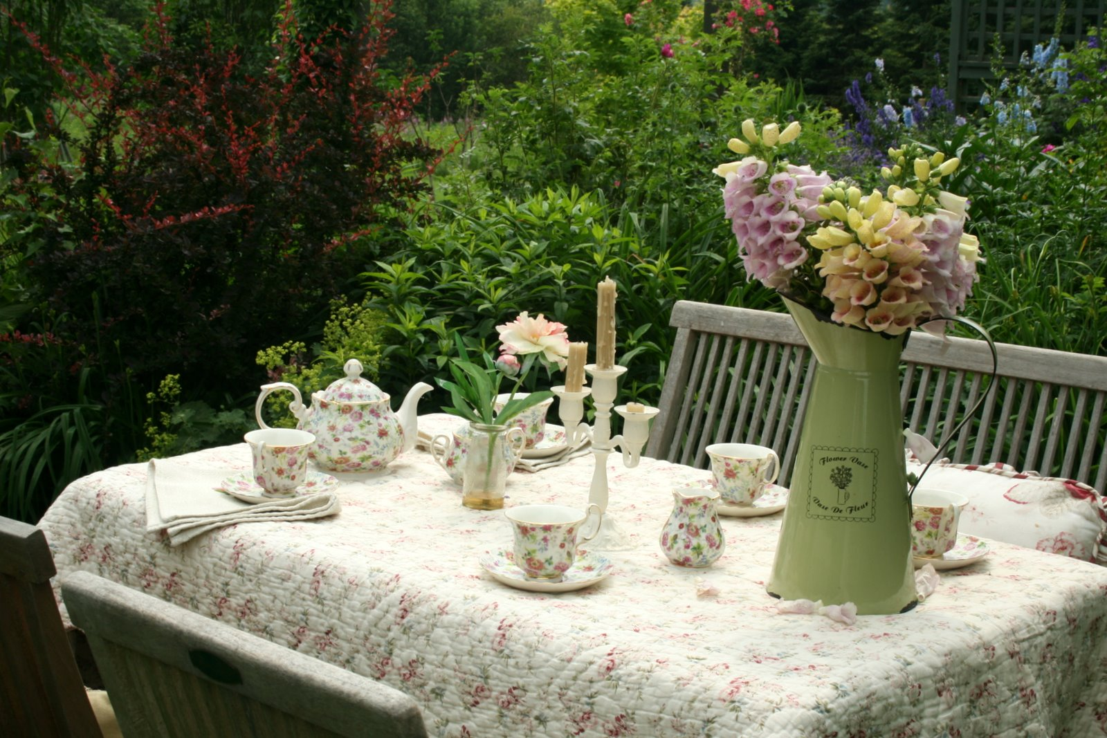 Afternoon Tea In The Garden Real Estate House And Home