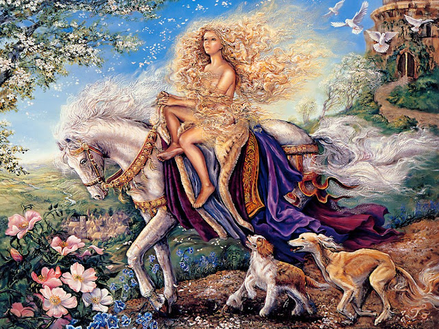 josephine wall fantasy painting horse