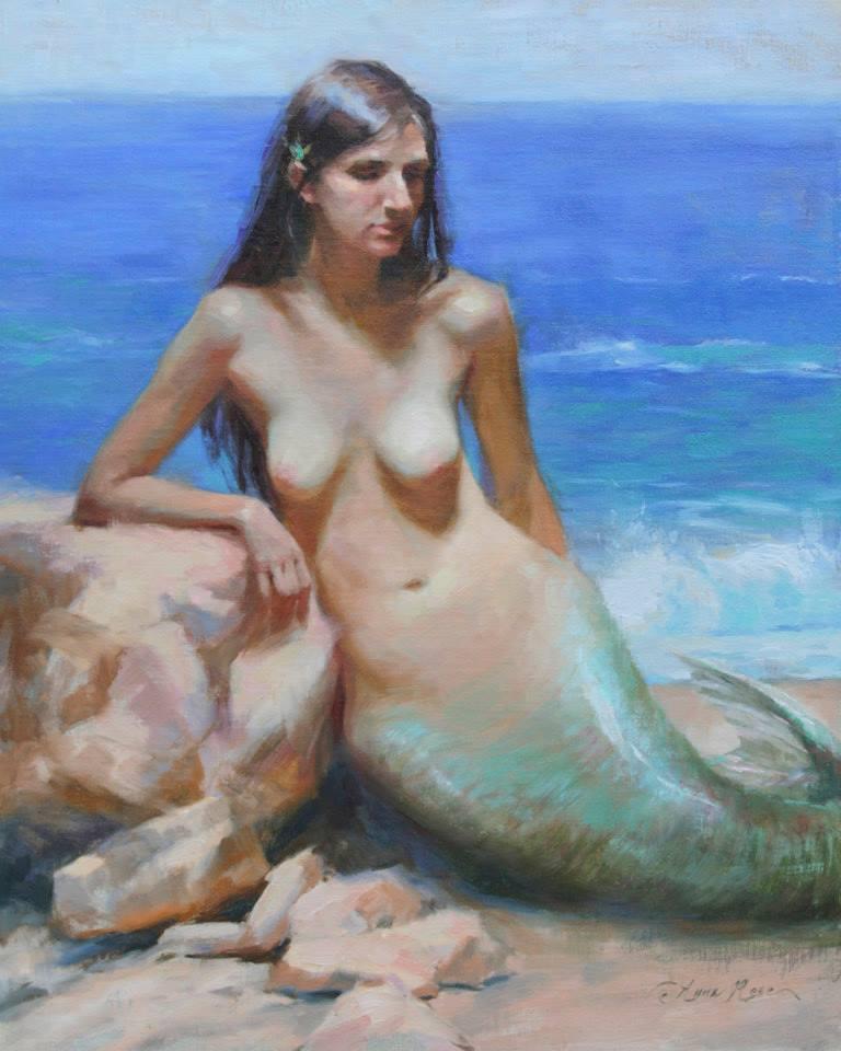 Nude mermaid art