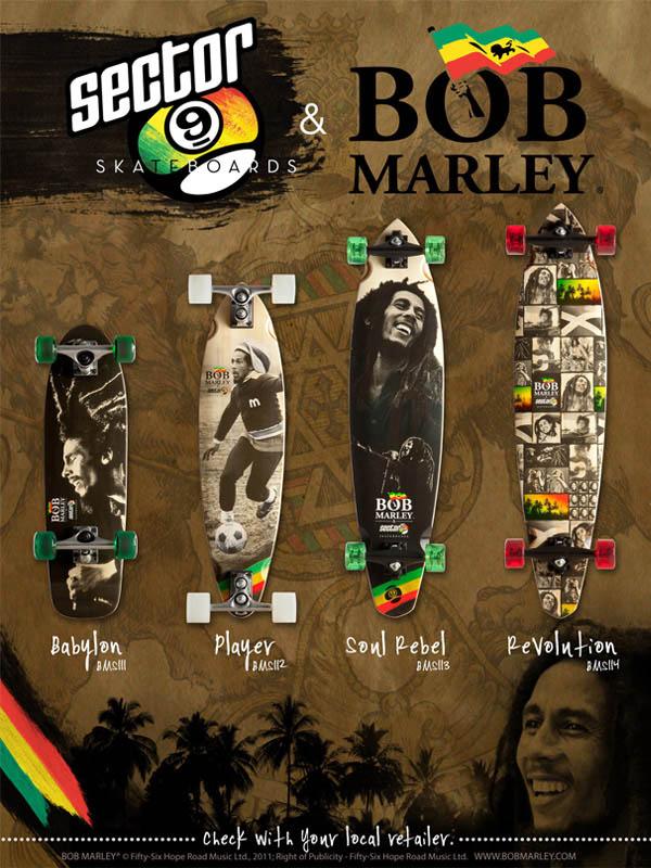Girls on Longboard: SECTOR NINE & BOB MARLEY Longboard Sector 9 Bob Marley
