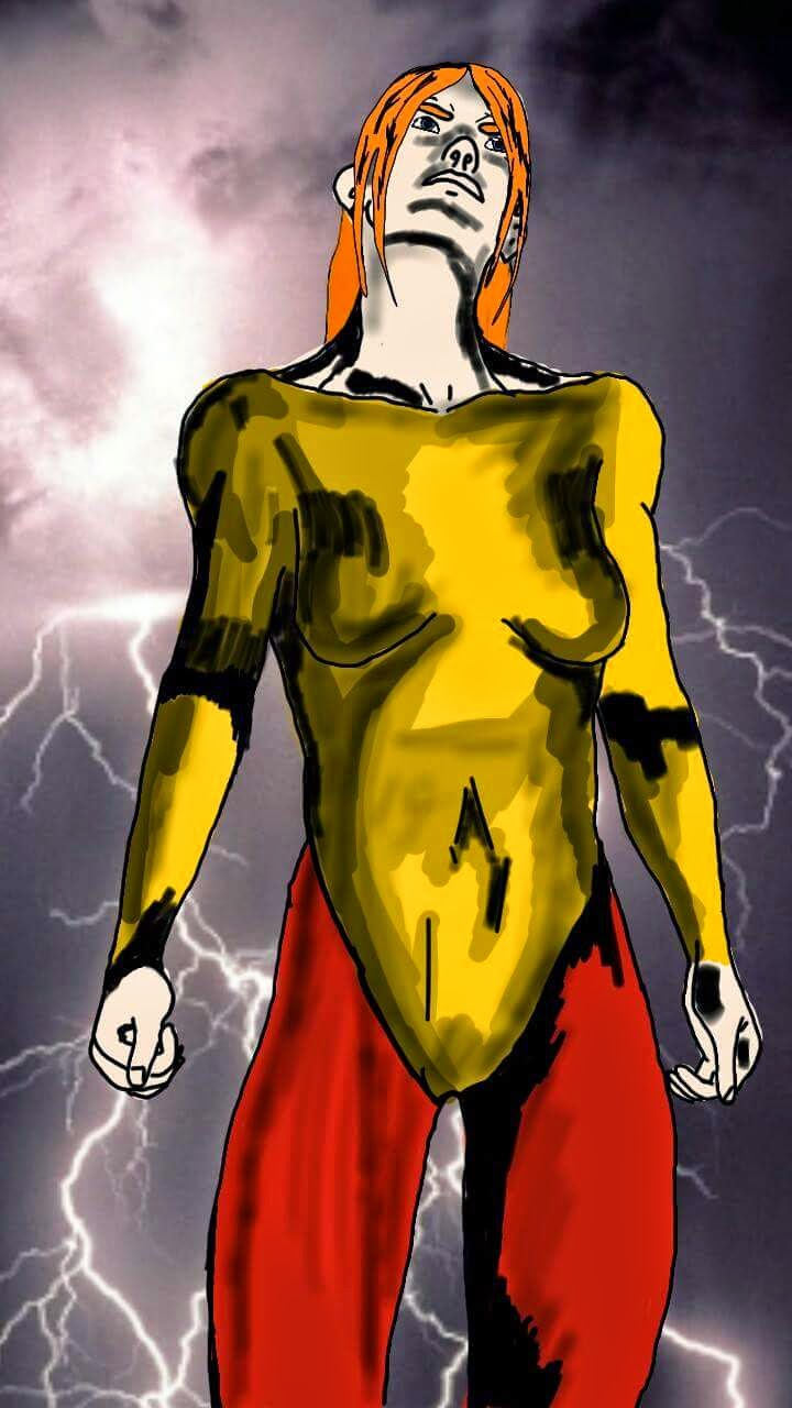 A superhero I created - She has no name yet!