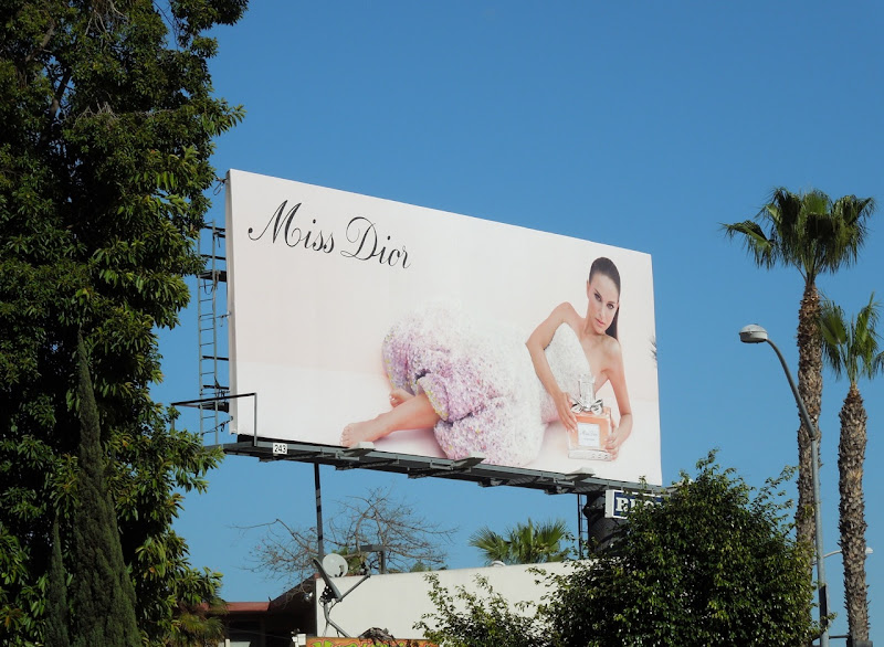 Miss Dior Natalie Portman fragrance billboard