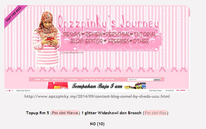 Menang Contest Blog Comel by Sheda Ucu