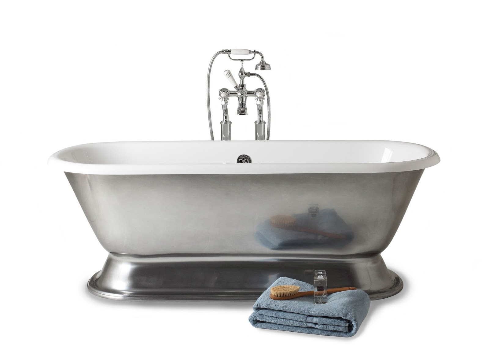 The Albion Bath Company Ltd Albion 39 S New Polished Pewter Bath Finish