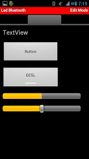 Microcontroler BT - Modo de edição
