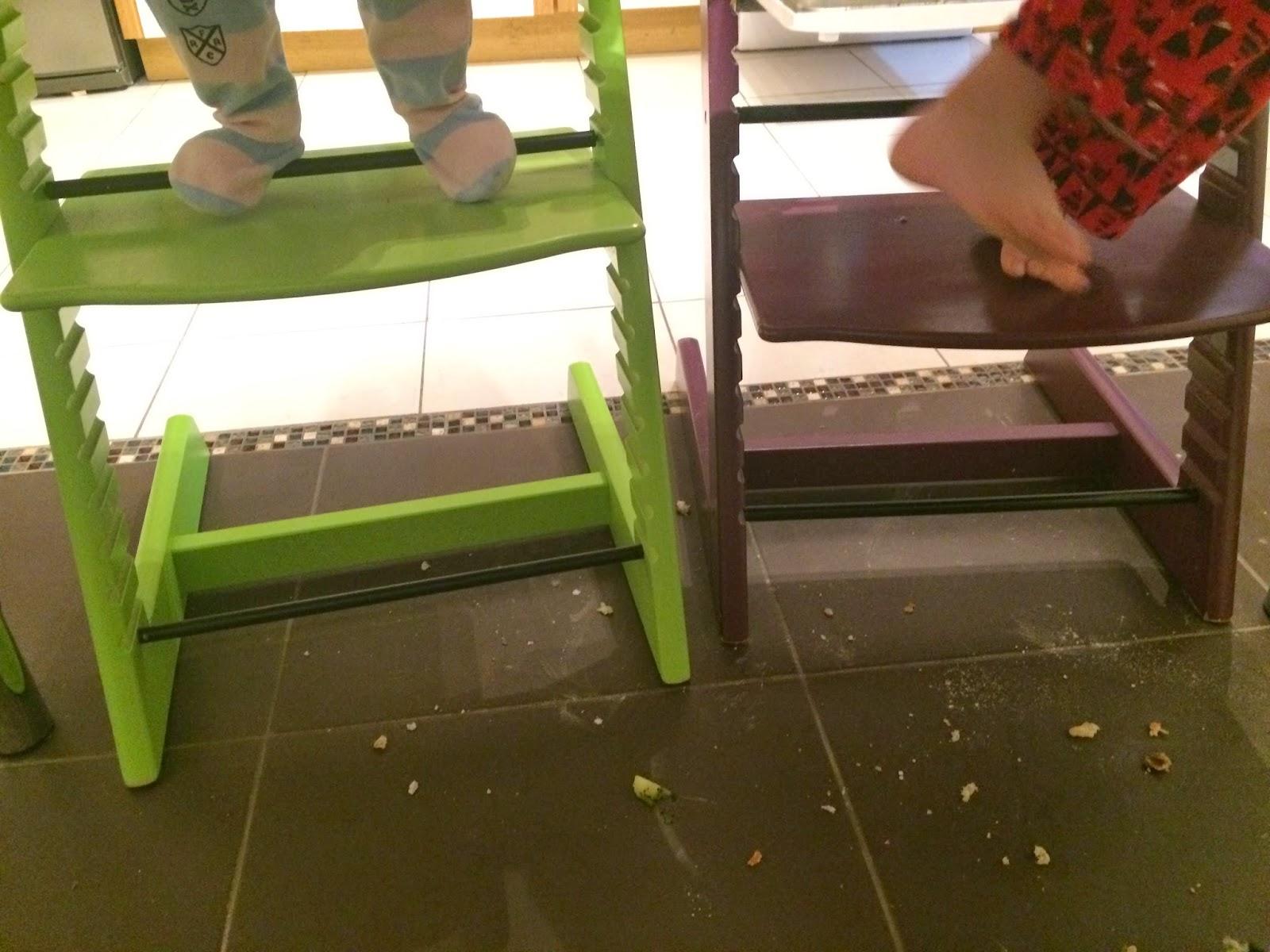 miettes sur le sol