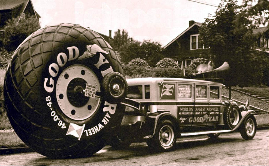 Just A Car Guy: Goodyear had one BIG rolling wheel to get attention ...