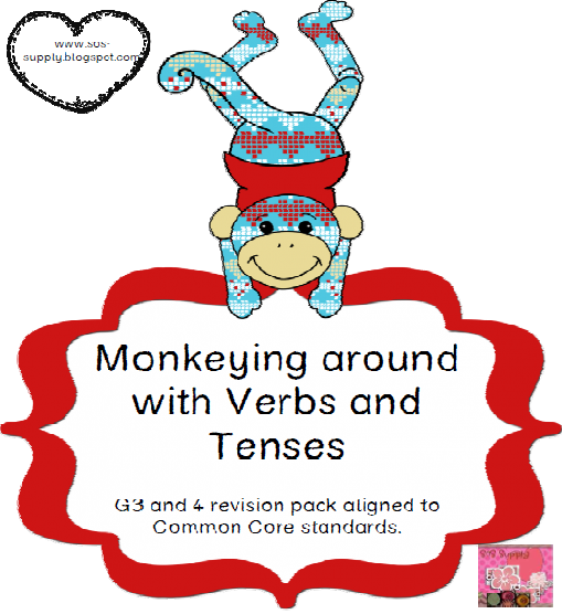 http://www.teacherspayteachers.com/Product/Monkeying-Around-With-Tenses-and-Verbs-Revision-Pack-544181