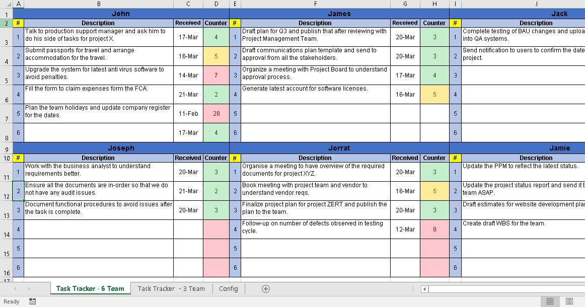 Vendor Management Excel Template