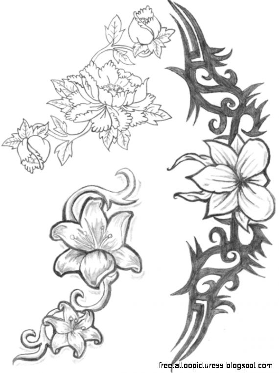 Tattoo Flowers Images