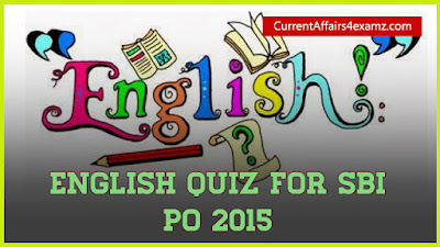 English Quiz Capsule SBI PO 2015