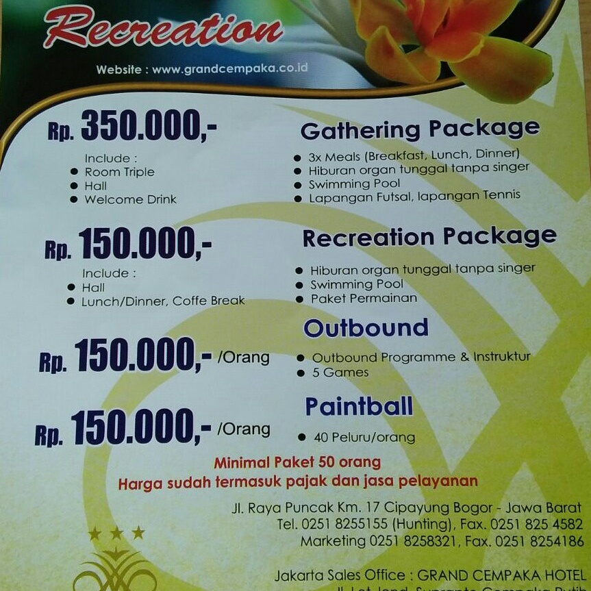 Recreation Package