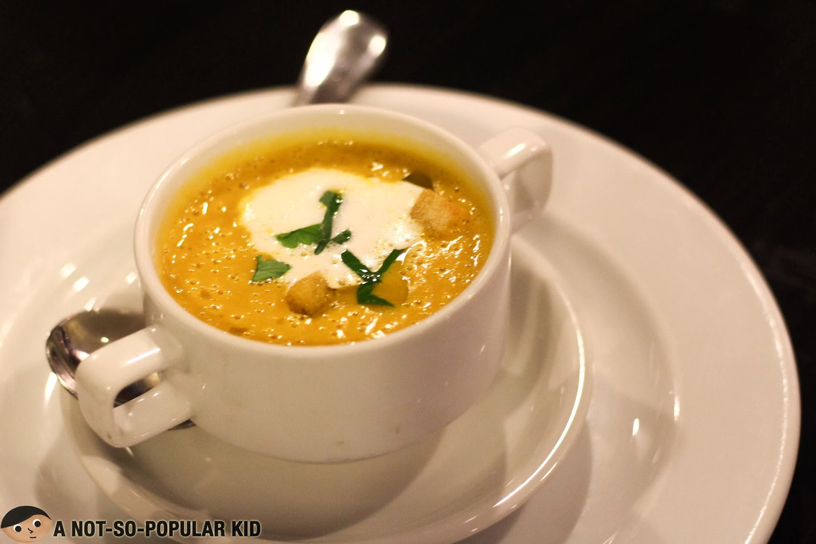 Rich and creamy Pumpkin-Carrot Cream Soup of My Kitchen