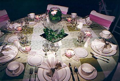 Wedding Preparation: wedding flower table centerpieces