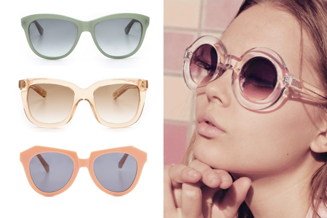 sunglasses, sunnies, sunshades, karen walker, marc jacobs, oliver peoples eyewear