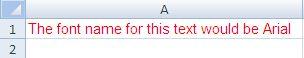 Change Cell Font Name - setFontName- Java POI Example