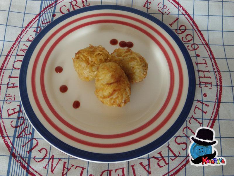 arancini ricoperti di rosti di patate