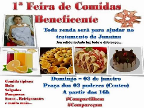 CONVITE 1º FEIRA BENEFICENTE - JANAINA