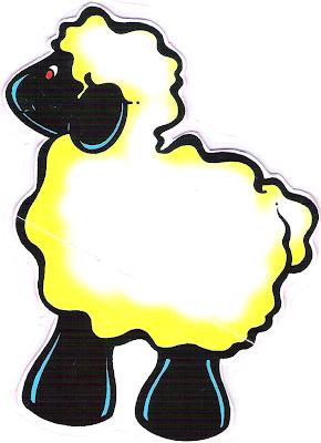 Desenho de ovelha colorido